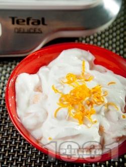 Млечен десерт  с пъпеш и рикота - снимка на рецептата